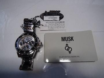ムスク の腕時計電池式クォーツ 製新品タグ付き 動作確認済!。