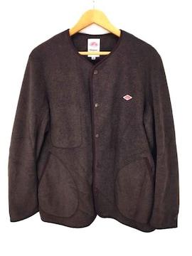 DANTON(ダントン)ノーカラーフリースジャケットジャケット