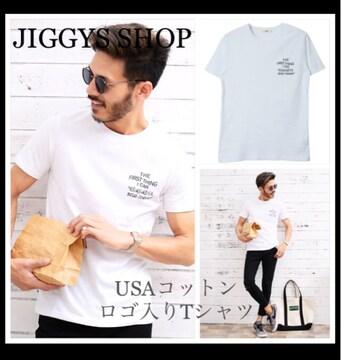 SALE中●USAコットン クルーネックロゴ入りTシャツ●JIGGYS SHOP