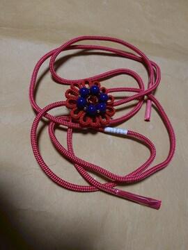 送料込み!新品タグ付き、伊賀くみひも、飾り紐、赤
