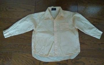 110 イエロー カッターシャツ 美品