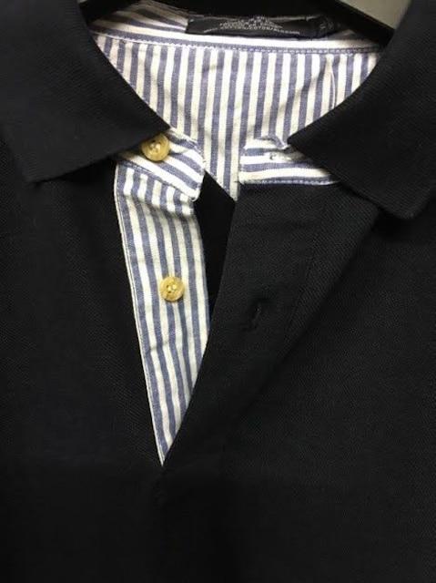 セール新品送込おしゃれポロシャツXLネイビー★ビッグシルエット★シンプルストリート < 男性ファッションの