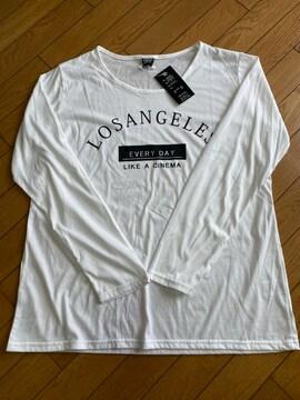 白ロゴ長Tシャツ4L