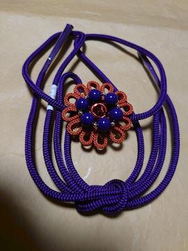 送料込み!新品タグ付き、伊賀くみひも、飾り紐、紫