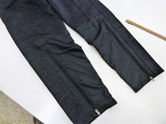 XL 黒)プーマ ハイブリッドパンツ 654992 ロング丈裾ファスナー細身裏起毛 puma < レジャー/スポーツの