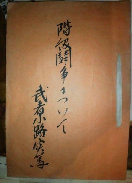 武者小路実篤 肉筆生原稿『階級闘争について』真筆保証 文化勲章  < 本/雑誌の