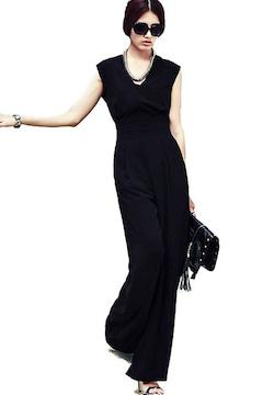オールインワン ワイドパンツドレス(S寸・黒)