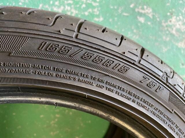 7071514)国産グッドイヤ-イ-グルLS2000中古タイヤ2本165/55R15送料無料 < 自動車/バイク