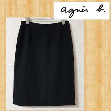 アニエスベー agnes b. スカート 40 ブラック