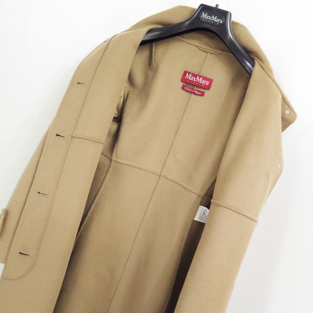 MaxMara STUDIO マックスマーラ クチートアマーノ アンゴラ カシミヤ コート キャメル < ブランドの