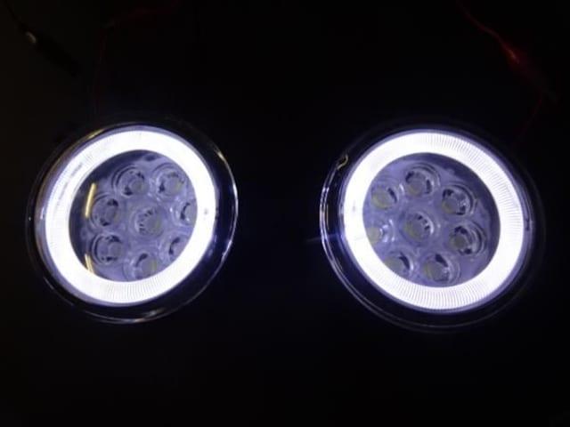 日産 LEDイカリングフォグランプ 白2個 セレナエルグランドエクストレイルジュークキューブ < 自動車/バイク