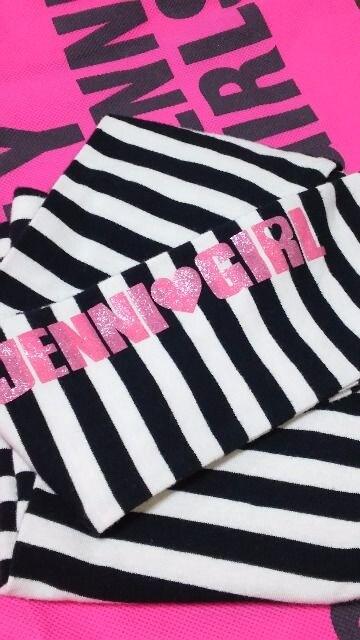 ジェニィ/JENNI☆ボーダーレギンス/黒×白・140 《オマケ130レギンス付き》 < ブランドの