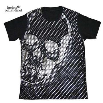 ルシアンペラフィネメンズドットスカルシルバーTシャツS