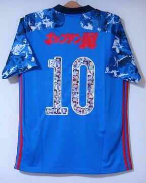 新品☆キャプテン翼☆日本代表☆迷彩青L10番半袖N大空バルセロナ
