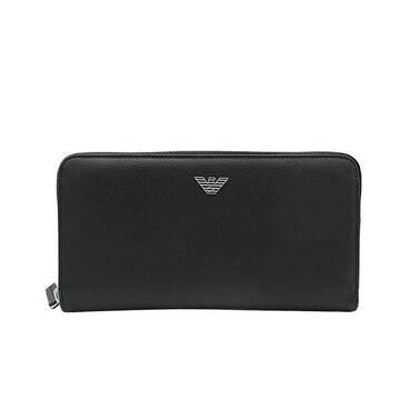 ◆新品本物◆エンポリオアルマーニ ラウンドファスナー長財布(BK)『Y4R255 YAQ2E』