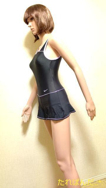 美品☆フットマーク☆光沢スカート付き競泳水着5209☆3点で即落 < キッズ/ベビーの