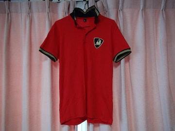 フェラーリーの赤のポロシャツ(XL)!。