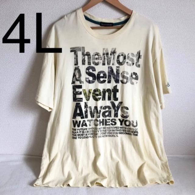 ロゴTシャツ 4L□  < 男性ファッションの