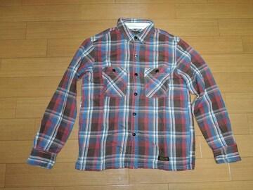 NEIGHBORHOODネイバーフッドLOGGERチェックシャツS青赤ネル系