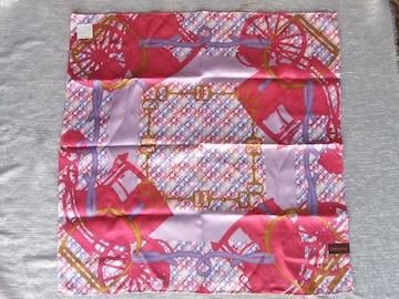 新品■ゲラルディーニ■ピンク系大判スカーフ シルク×コットン 58cm