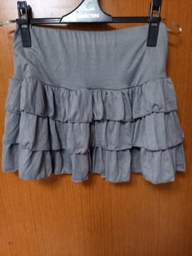 �H グレーのスカート
