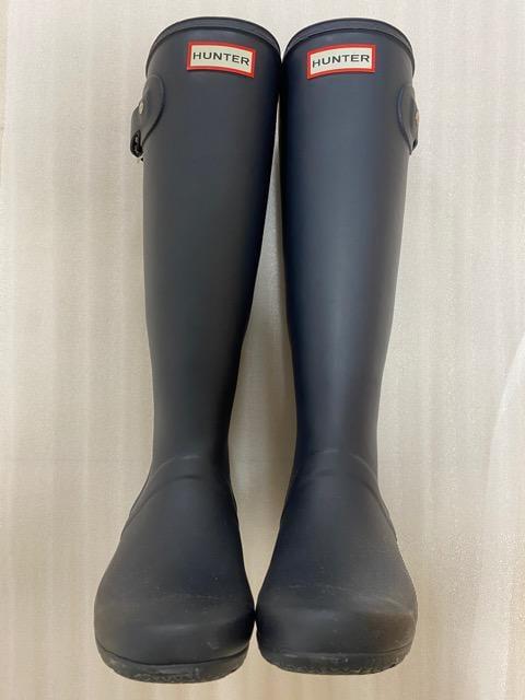 中古品 ハンター レインブーツ ネイビー 22-23cm