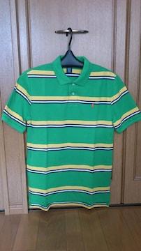 激安83%オフPolo、ラルフローレン、半袖ポロシャツ(新品タグ、緑×黄、M)