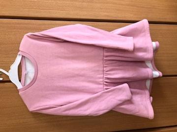 西松屋購入 裏起毛ワンピース130 ピンク