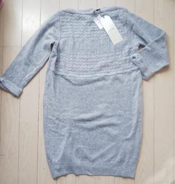 LL★Hash ideal★ラメニット★りぼん袖ワンピース★大きいサイズ