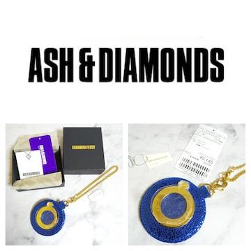 レア!! ASH&DIAMONDS★ミラーチャーム【新品】BLUE