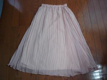 ★クイーンズコート ウエストゴムのシフォンスカート★着用1度