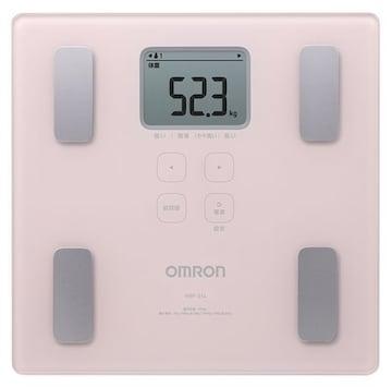 オムロン 体重・体組成計 カラダスキャン ピンク