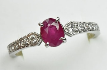 GIA 米国宝石学会 ビルマ ミャンマー産 ルビー リング 16号 指輪