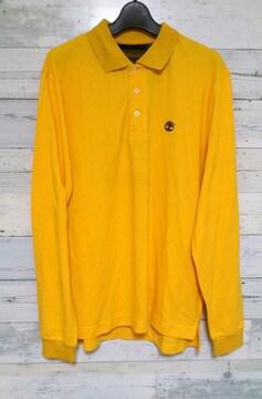 セールTimberlandティンバーランドロゴ刺繍ロングポロシャツ