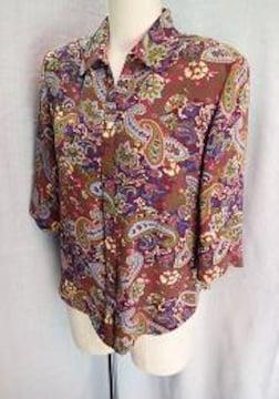 ◆MASABARDO/富和 ブラウスジャケット 七分袖/サイズM