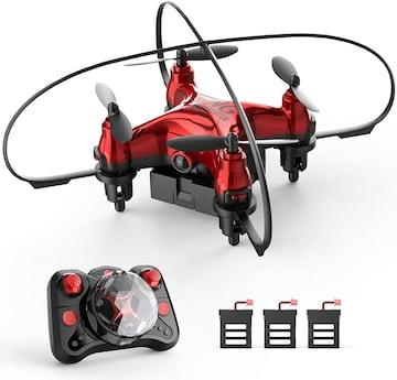 ミニドローン 最大飛行時間24分 小型 バッテリー3個付き