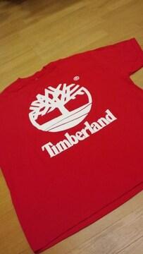 LA直輸入!TimberLandティンバーランド 赤RED サイズ3XLXXXL フロントプリ