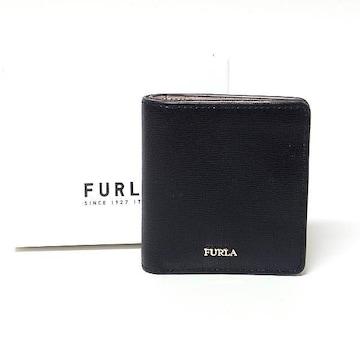 【フルラ/FURLA】2つ折りコンパクト財布 コインポケット付き