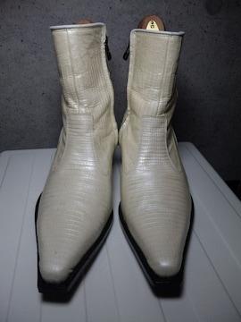 5351プールオムサイドジップブーツ靴白40アルフレッドバニスター