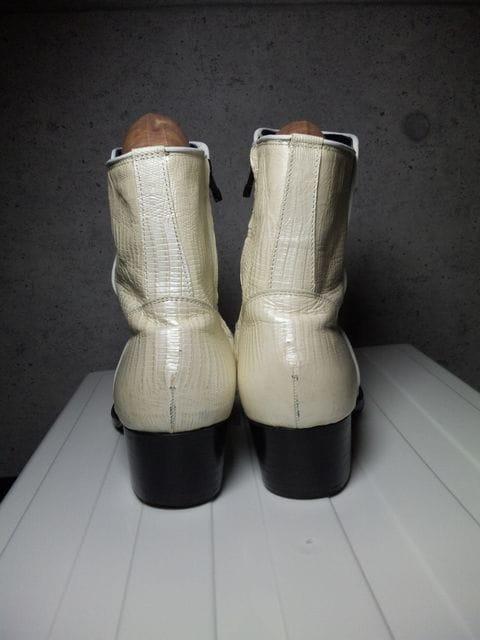 5351プールオムサイドジップブーツ靴白40アルフレッドバニスター < ブランドの