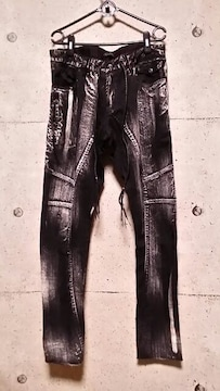 KMRIIケムリ Discharged Skinny Pants 3