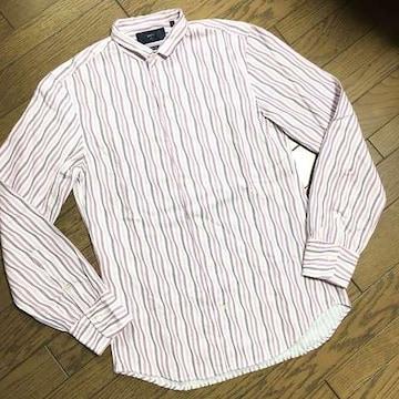 美品SHIPS ストライプシャツ 日本製 シップス