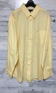 Tommyトミーワンポイントロゴイエローロングシャツ