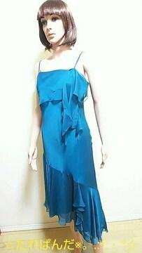 ☆極美品☆ふんわり裾広シフォンのワンピドレスD105☆3点で即落