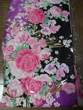 #訳あり、新品タグ付、2尺袖きもの、花柄