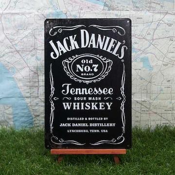 新品【ブリキ看板】Jack Daniel's/ジャックダニエル ロゴ -L-