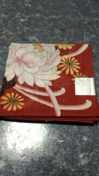 大正浪漫和風花柄 大判ハンカチ日本製未使用