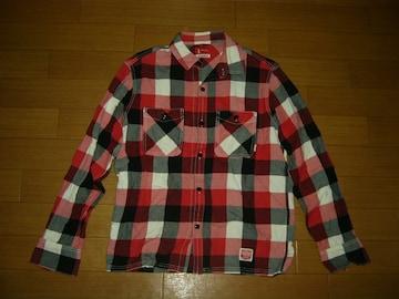 NEIGHBORHOODネイバーフッドCABELLAチェックシャツM赤黒白