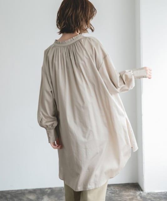 apart by lowrys☆コットンフリルチュニックシャツ