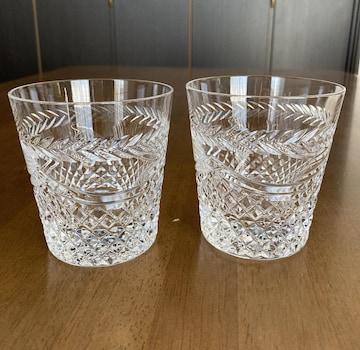 クリスタルガラス ロックグラス☆未使用